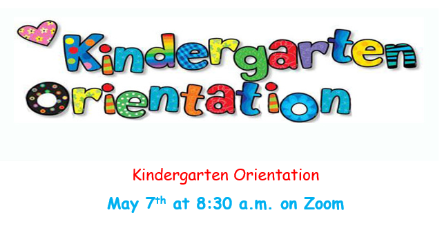 Kindergarten Orientation colorful sign