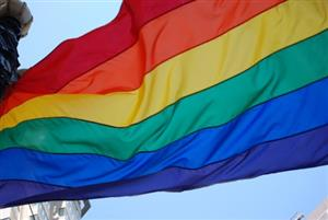 Rainbow colored flag