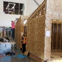 Teachers at the Cherry Creek Innovation Campus continue working on tiny homes using safety plan