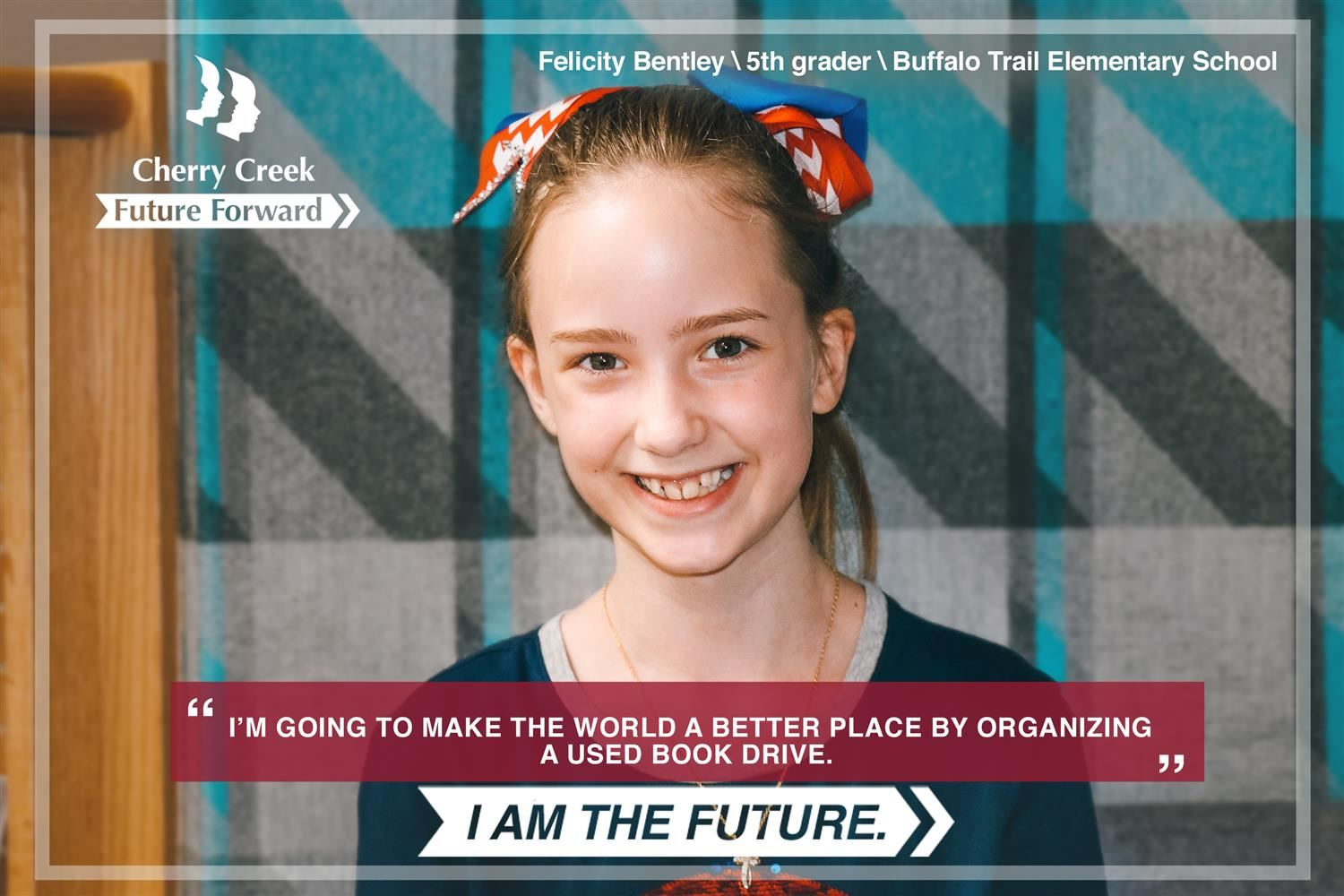 photo of Felicity Bentley, 5th Grader at Buffalo Trail Elementary School